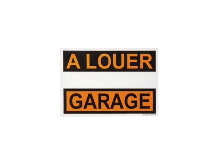 Affiche garage à louer 33x23 cm