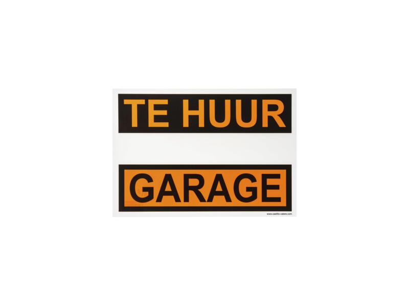 Affiche garage te huur 33x23 cm