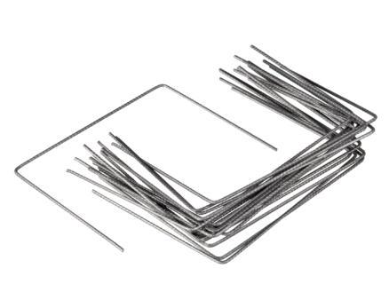 Agrafes de fixation pour toile de paillage 20x25 cm 20 pièces