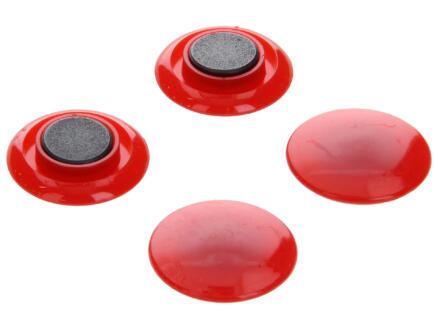 Sam Aimants 30mm rouge 4 pièces