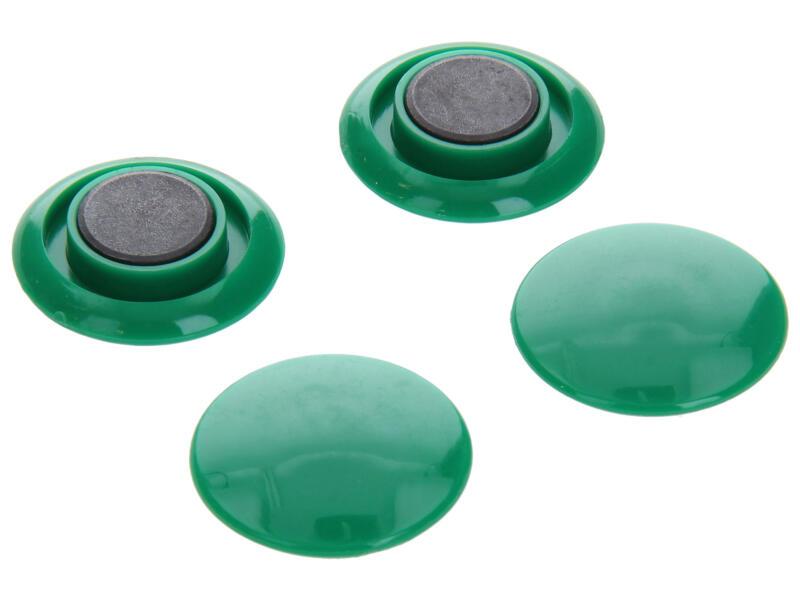 Sam Aimants 30mm vert 4 pièces