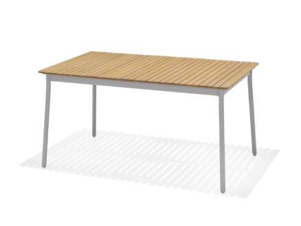 Garden Plus Aitana table de jardin 147x90 cm brun