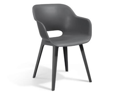 Allibert Akola chaise de jardin gris clair 2 pièces