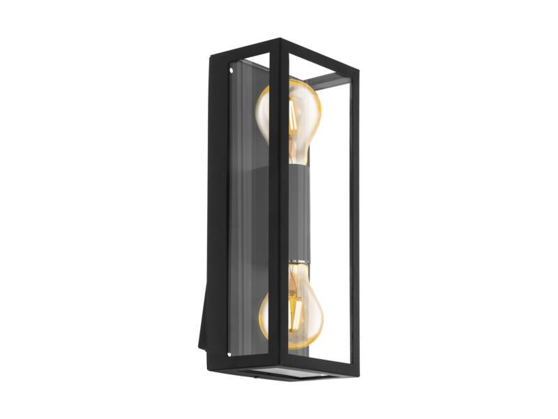 Eglo Alamonte1 wandlamp E27 max. 2x60 W zwart