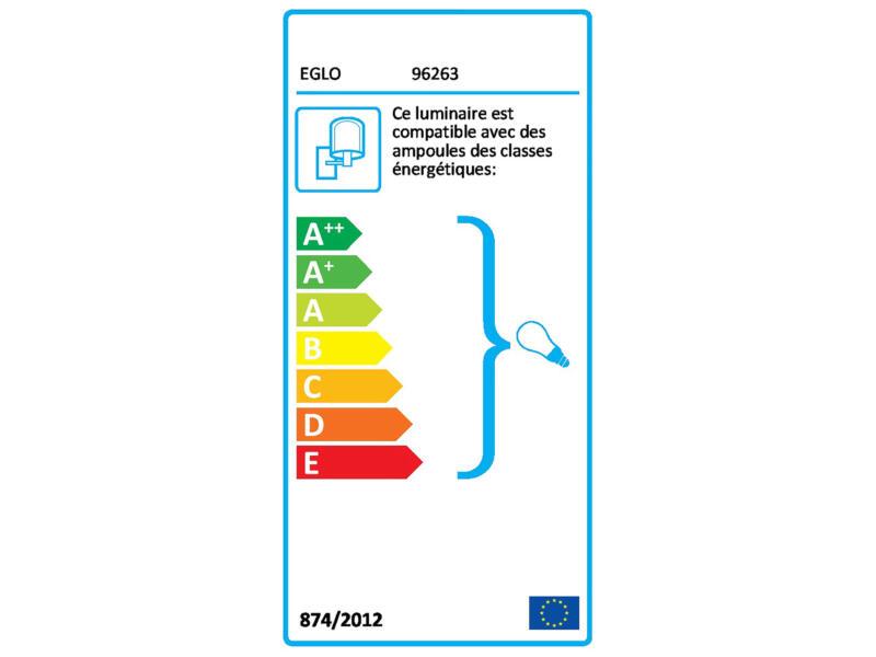 Eglo Albacete applique murale extérieure E27 max. 40W argent