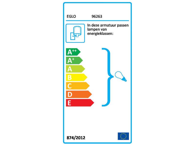 Eglo Albacete wandlamp E27 max. 40W zilver