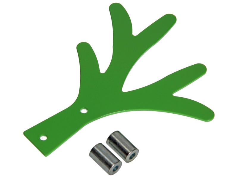Alber crochet portemanteau 5 crochets vert
