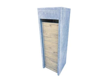 VASP Alicante Woodlook brievenbus belgische blauwe steen