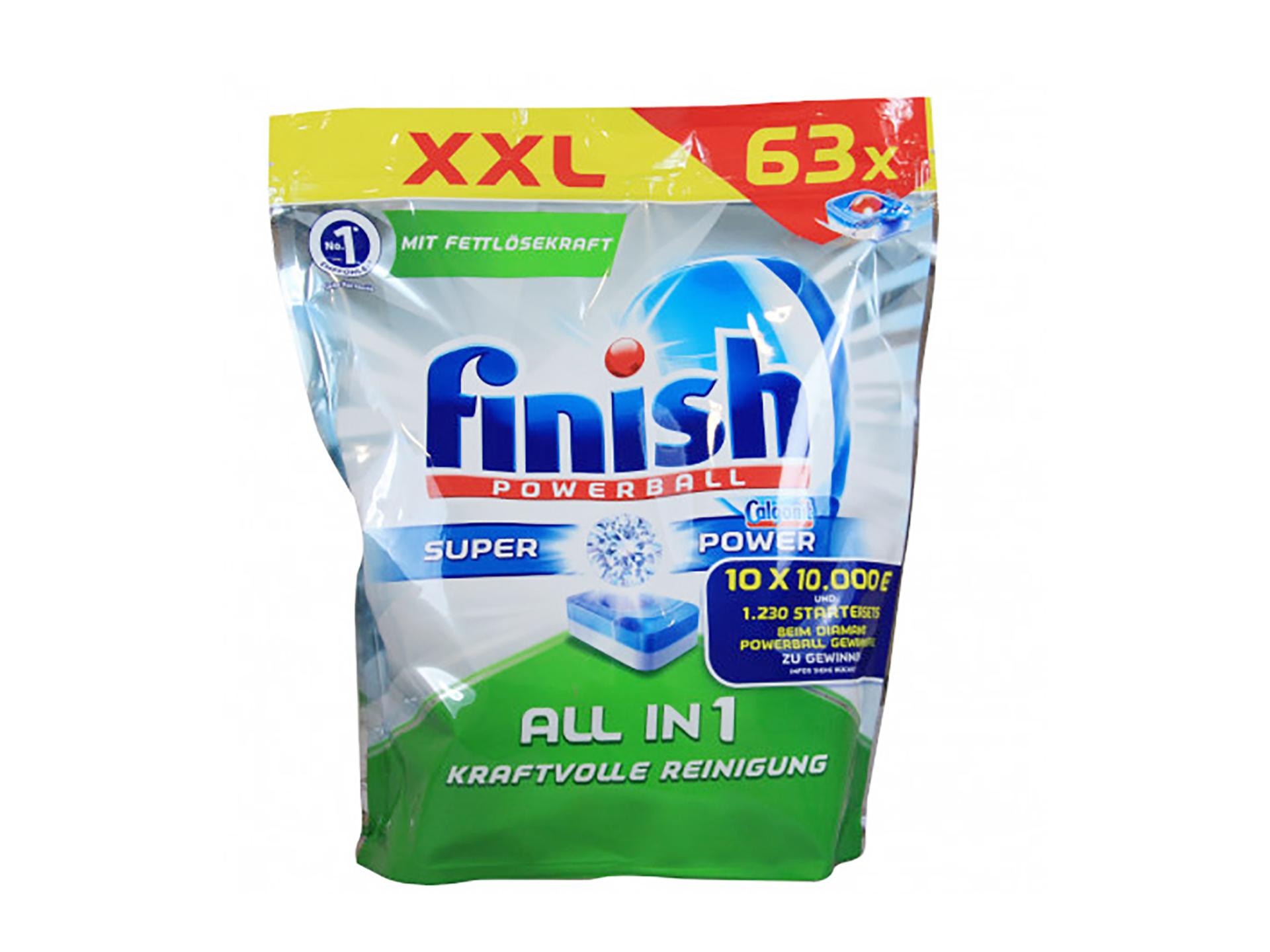 Peinture Pour Lave Vaisselle finish all-in-one tablettes lave-vaisselle 63 tabs (1+1 gratuit)