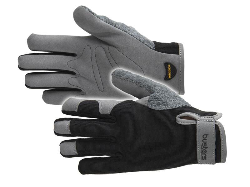 Busters All Round Men gants de jardinage M/L cuir artificiel noir