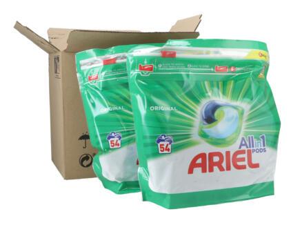 Ariel All-in-1 Original wasmiddel tabs 54+54 gratis