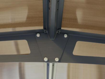 Palram Alpine 8500 carport 359x217x863 cm metaal brons/grijs