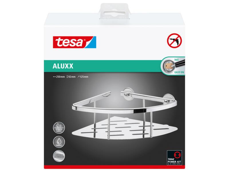 Tesa Aluxx doucherek hoek zelfklevend 92x250x125 mm chroom