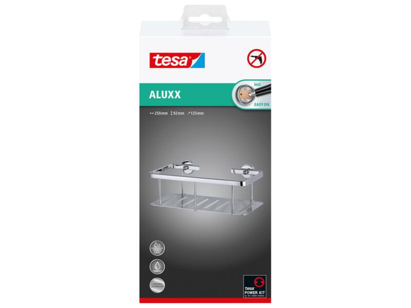 Tesa Aluxx doucherek zelfklevend 92x250x125 mm chroom