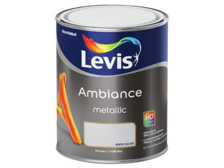Levis Ambiance Metallic muurverf 1l zilver