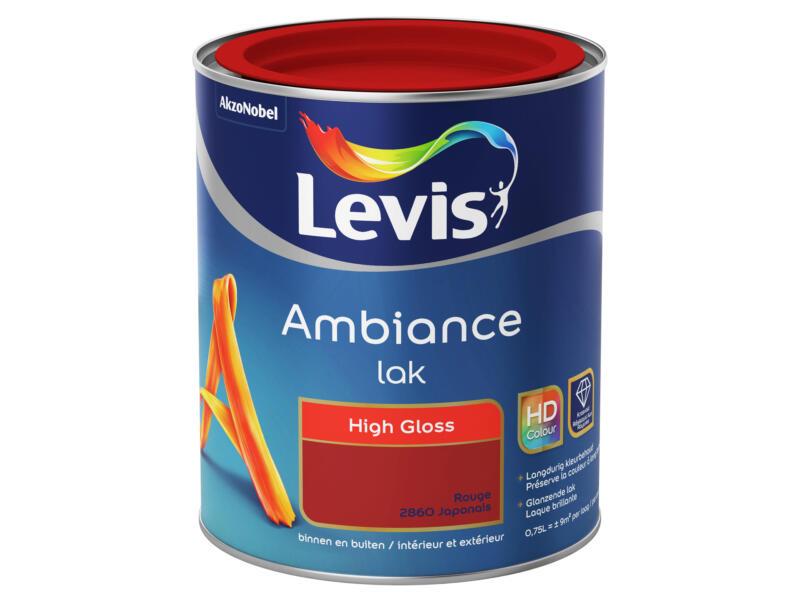 Levis Ambiance lak hoogglans 0,75l rouge japonnais