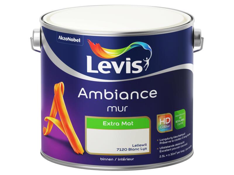 Levis Ambiance muurverf extra mat 2,5l leliewit
