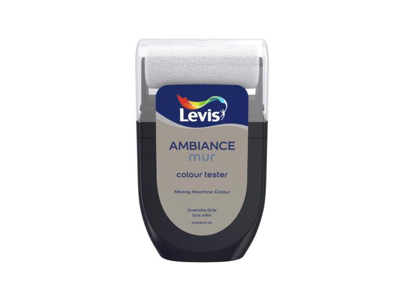 Levis Ambiance tester muurverf extra mat 30ml oneindig grijs
