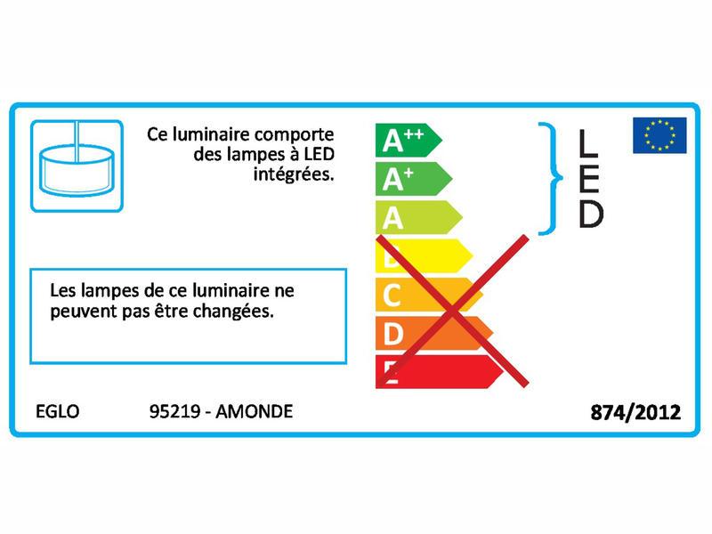 Eglo Amonde suspension LED 5x6 W dimmable chrome/blanc