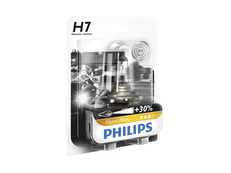 Philips Ampoule H7 phare avant moto MotoVision 12972PRBW