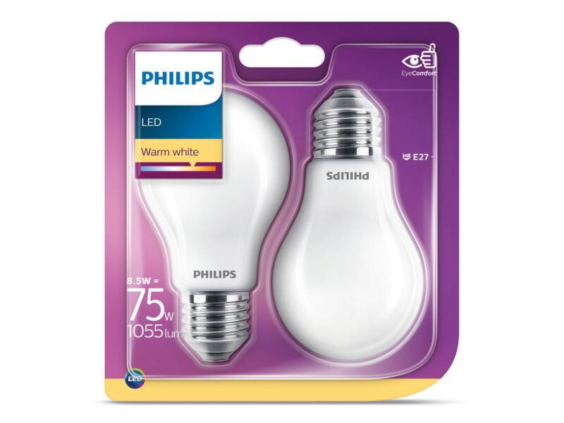 Philips Ampoule LED poire E27 8,5W