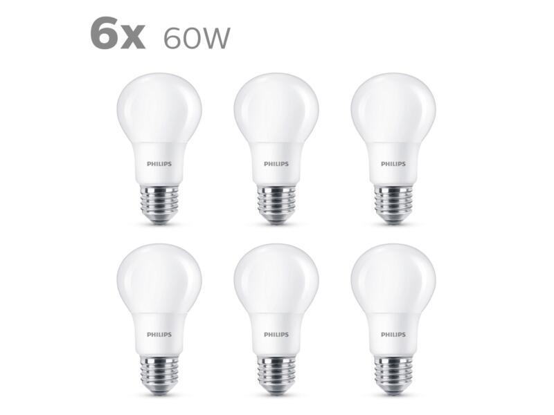 Philips Ampoule LED poire mat E27 8W 6 pièces