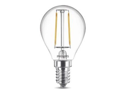 Philips Ampoule LED sphérique E14 2,3W