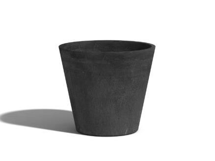Ecopots Amsterdam pot à fleurs 20cm gris foncé