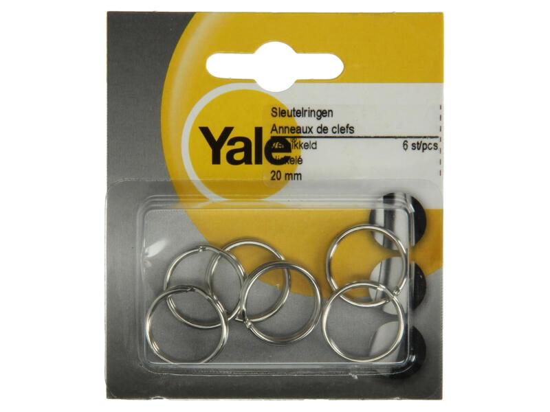 Yale Anneaux de clefs 20mm lot de 6