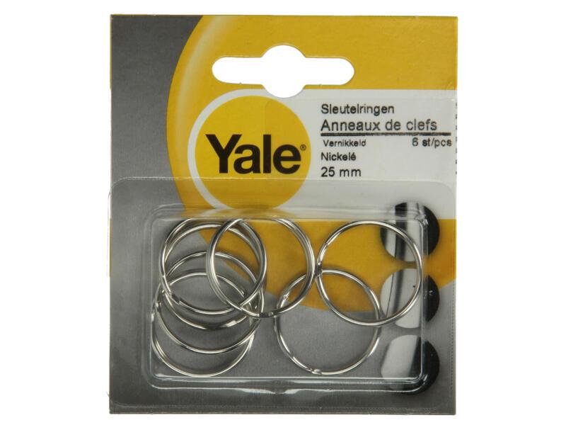 Yale Anneaux de clefs 25mm lot de 6