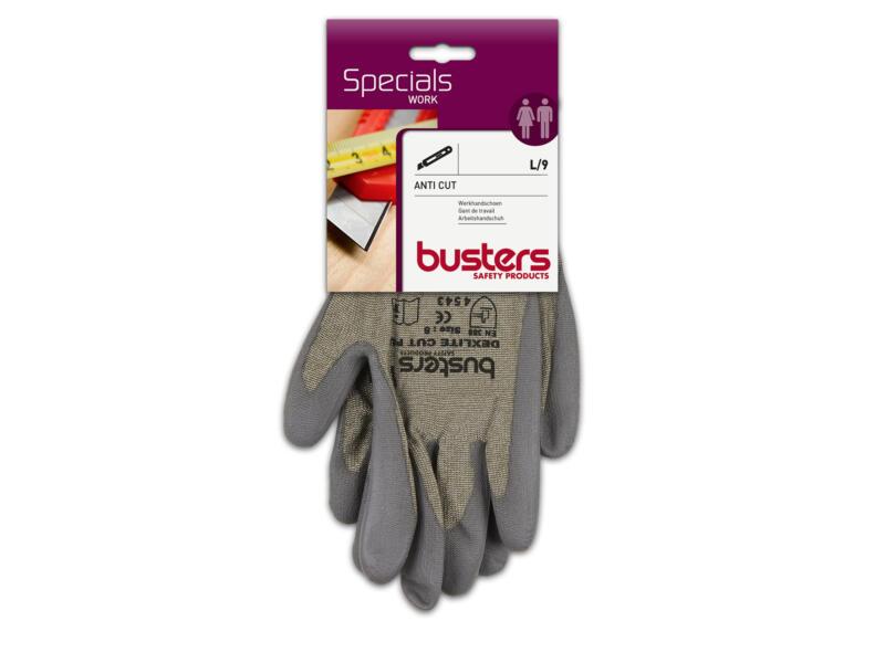 Busters Anti Cut werkhandschoenen L polyethyleen grijs