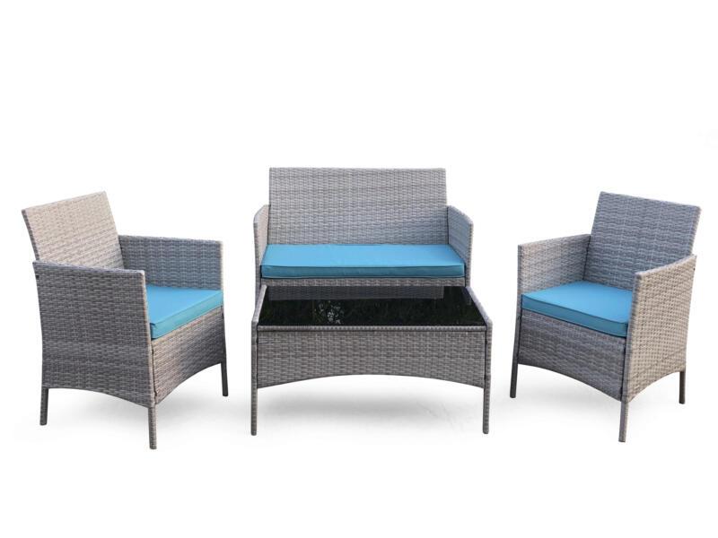 Garden Plus Antibes loungeset grijs/blauw
