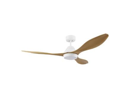 Eglo Antibes ventilateur de plafond 18W avec lampe LED blanc/brun
