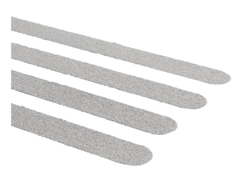 Antislip sticker langwerpig 600x19 mm grijs 15 stuks