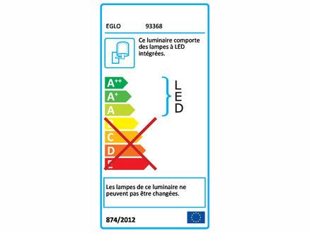 Appl.Redondo LED 2x2,5W noir