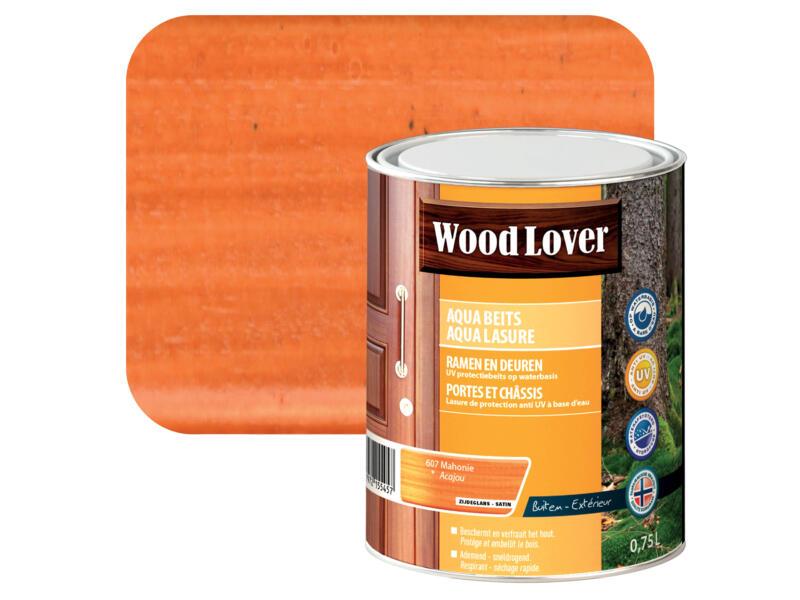 Wood Lover Aqua lasure 0,75l acajou #607