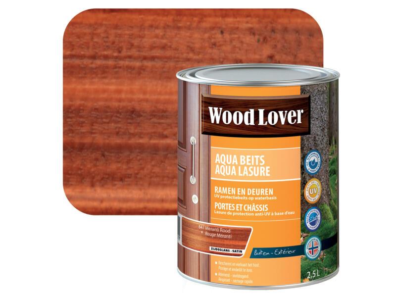 Wood Lover Aqua lasure 2,5l rouge méranti #647
