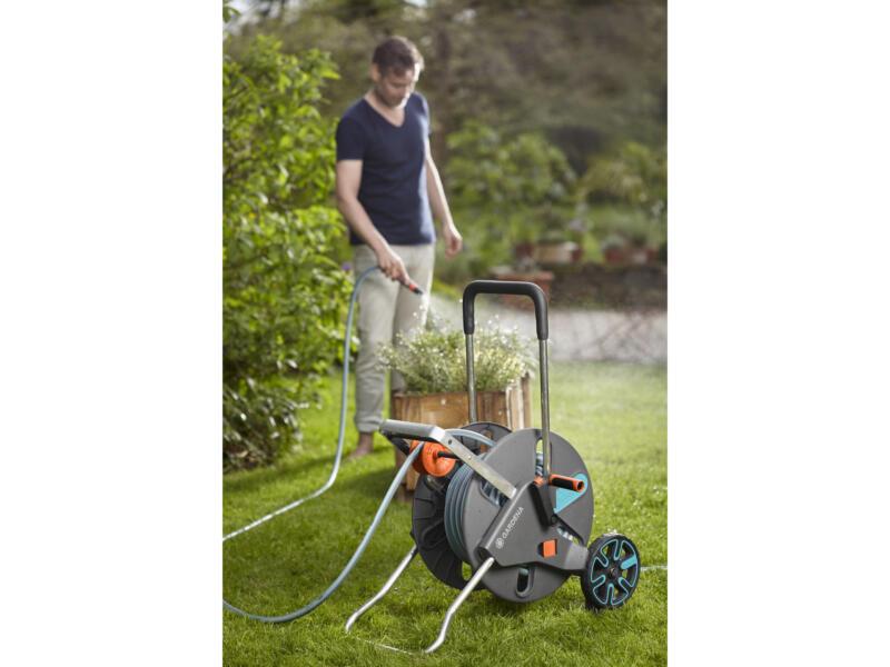 Gardena AquaRoll L Easy dévidoir sur roues avec tuyau d'arrosage 50m