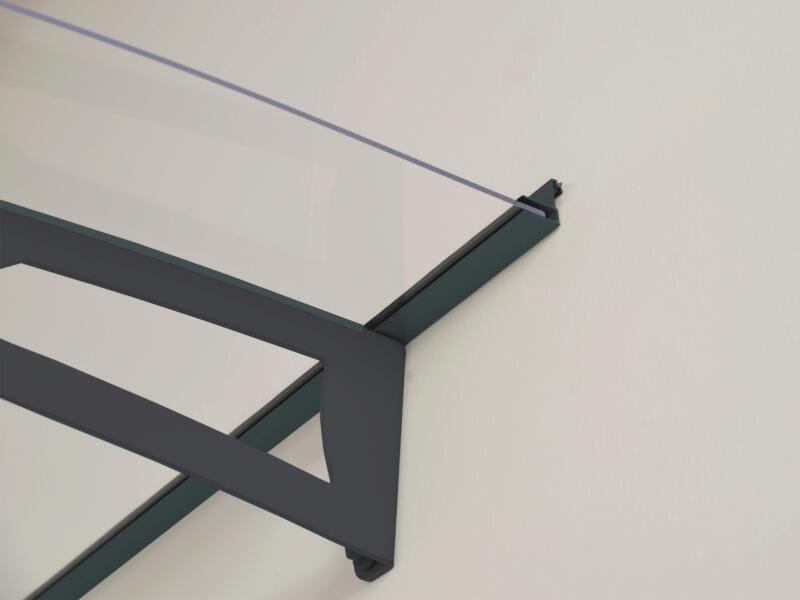 Palram Aquila 3000 marquise de porte 302x91,5 cm transparent/gris foncé