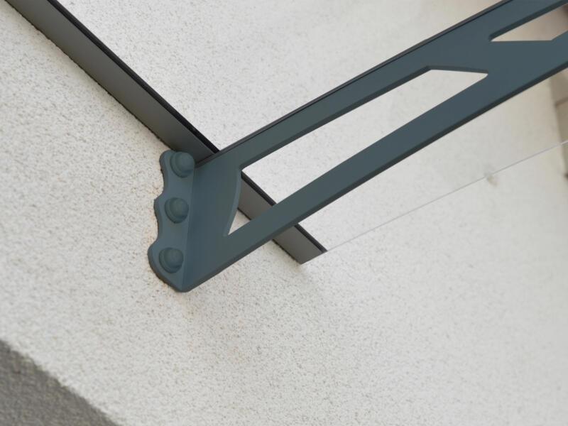 Palram Aquila 4100 marquise de porte 412x91,5 cm transparent/gris foncé