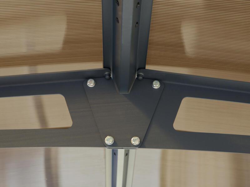 Palram Arcadia 12700 carport 359x217x1290 cm metaal brons/grijs