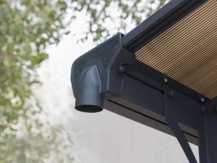 Palram Arcadia 12700 carport 359x217x1290 cm métal bronze/gris