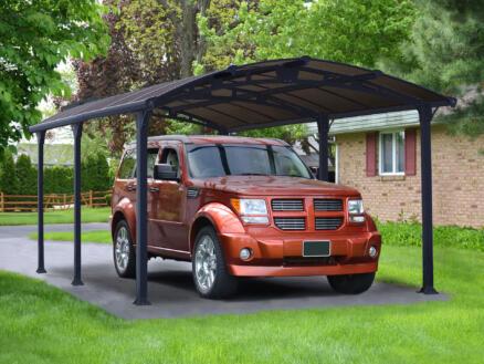 Palram Arcadia 5000 carport 359x217x507 cm metaal brons/grijs