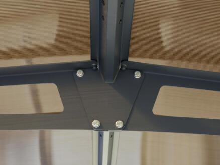 Palram Arcadia 6400 carport 359x217x649 cm metaal brons/grijs