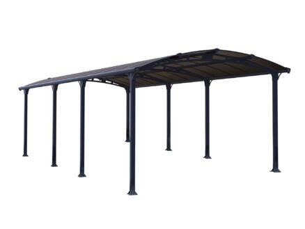 Palram Arcadia 8500 carport 359x217x863 cm metaal brons/grijs