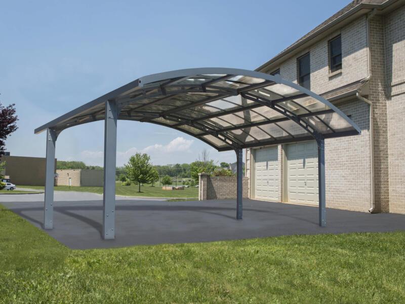 Palram Arizona 5000 Breeze carport double 495x578 cm gris/opalin