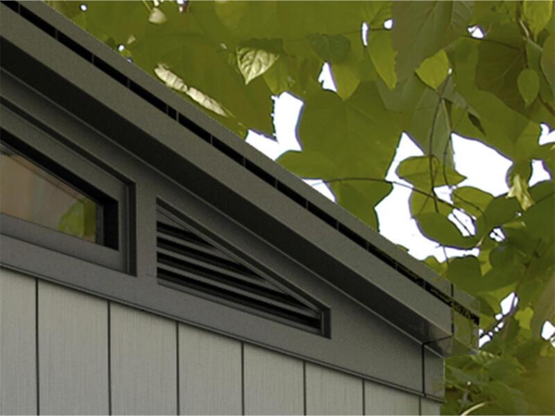 Keter Artisan 77 abri de jardin 214x218x226 cm résine anthracite