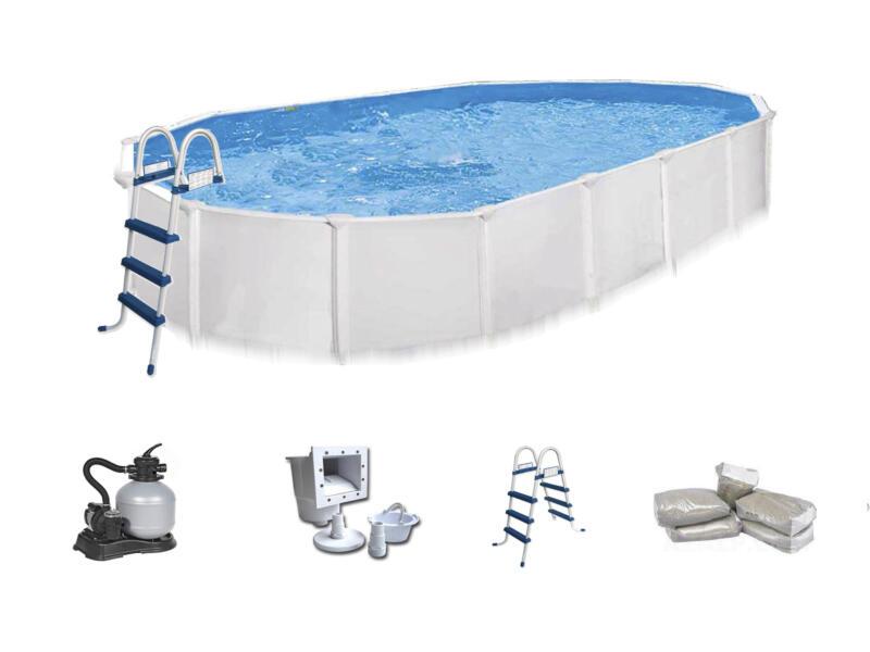 Interline Aruba piscine ovale 610x360x122 cm + accessoires