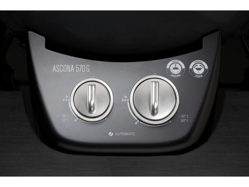 Ascona 570G gaskogelbarbecue 54cm grijs
