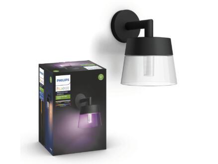 Philips Hue Attract White and Color Ambiance LED wandlamp 8W dimbaar zwart